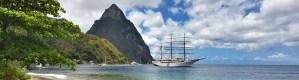 St. Lucia Pitons Gros Piton Petit Piton Landmark UNESCO Heritage