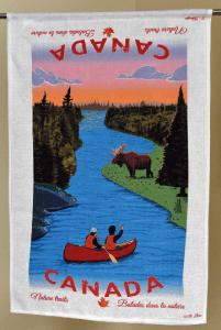 Canada Nature Trails Linen Tea towel