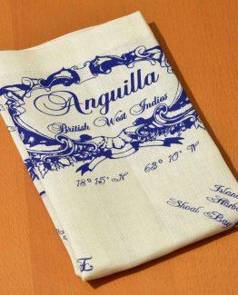 Linen Dish kitchen towel Anguilla Nautical Style