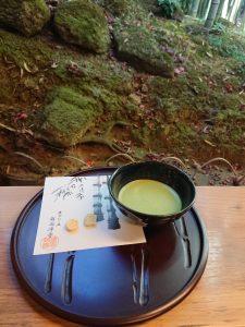 報国寺の抹茶セット