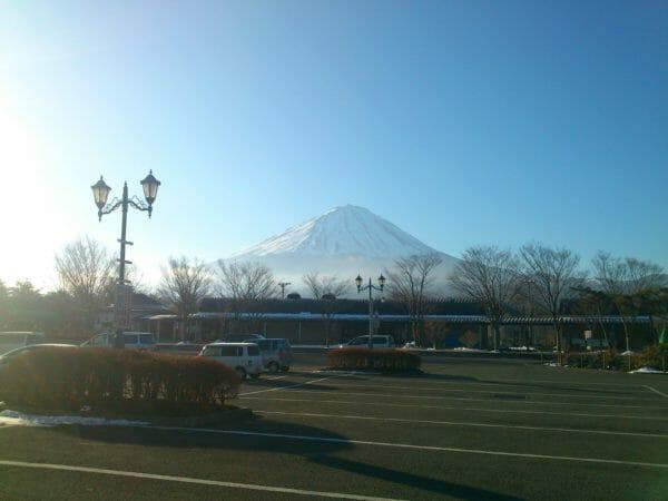 なるさわから見える富士山