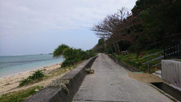 備瀬の海岸