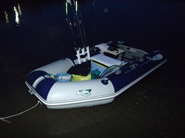 2馬力ゴムボートでテンヤ真鯛釣行