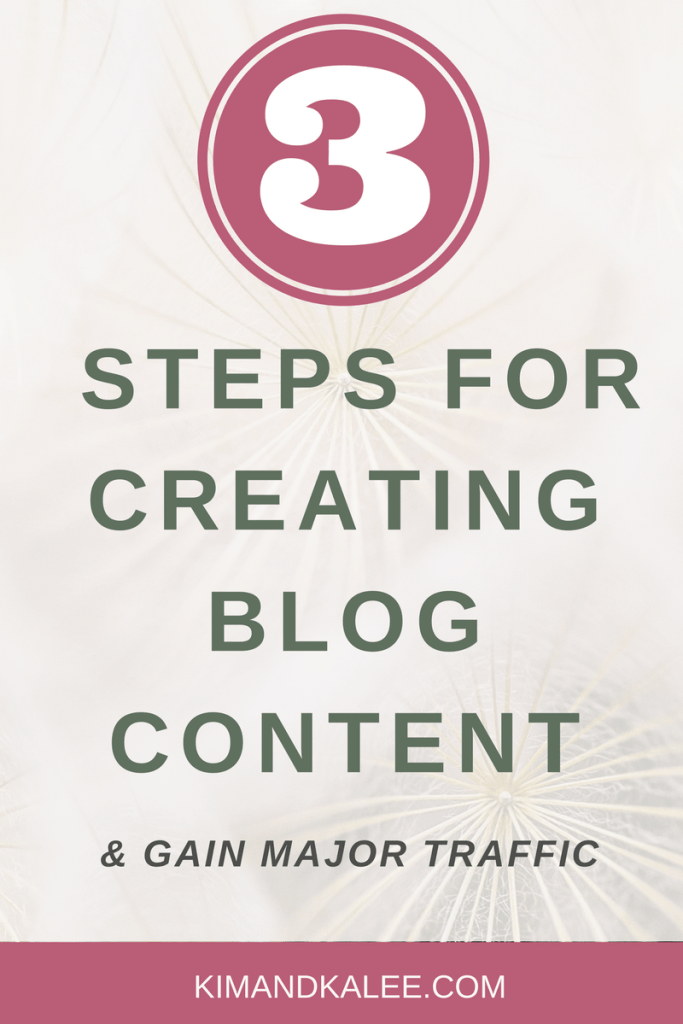 3 Step System for Creating Content for Blog Posts