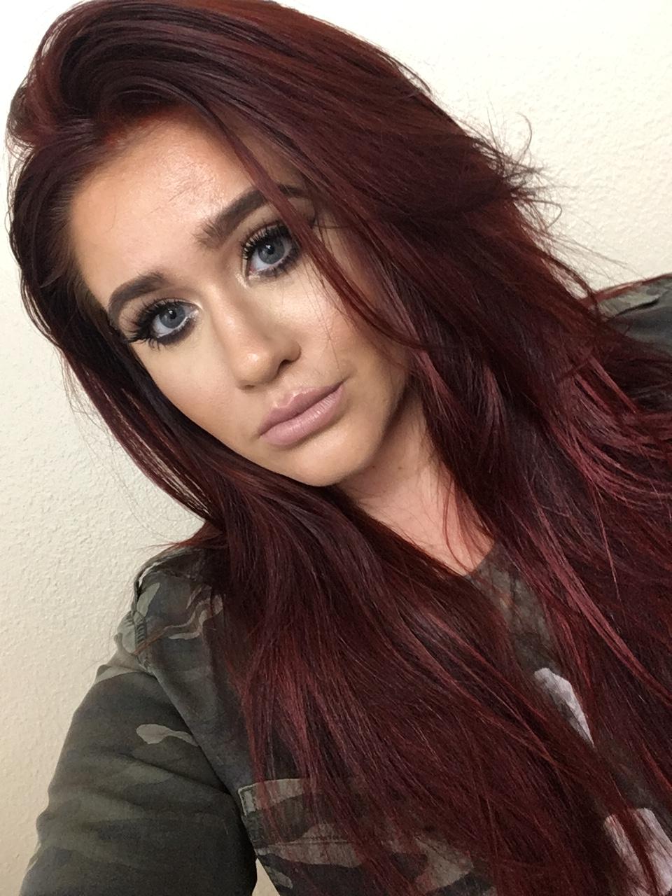 maroon auburn hair color1