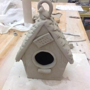 clay-bird-houses