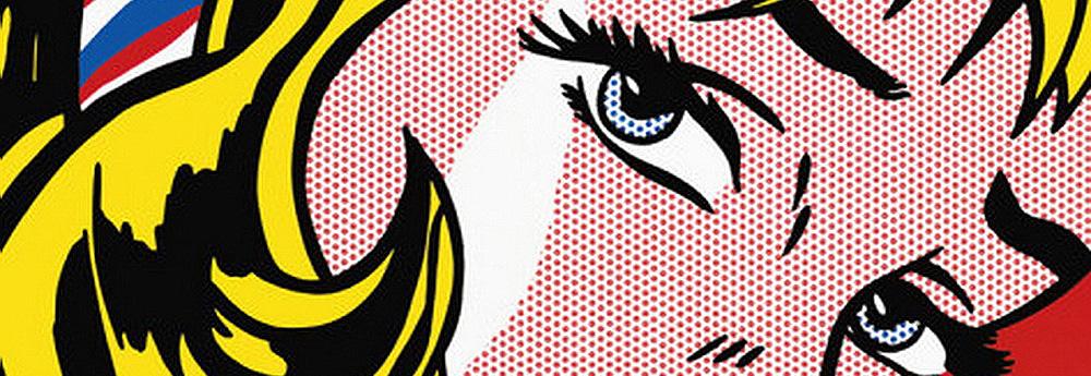 Roy Lichtenstein: Pop Art Comic Book Style Self-Portraits