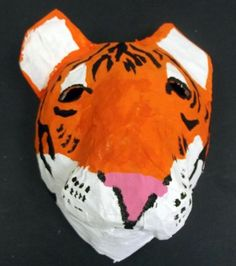 Paper Mache Animal Heads Kids