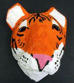 Paper Mache Animal Heads Kids