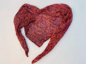 Puget Sound Shawl in the snow
