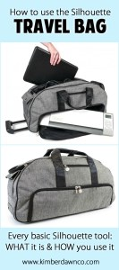 Silhouette Rolling Tote Bag: How to use every basic Silhouette Tool - Click here to see them all!