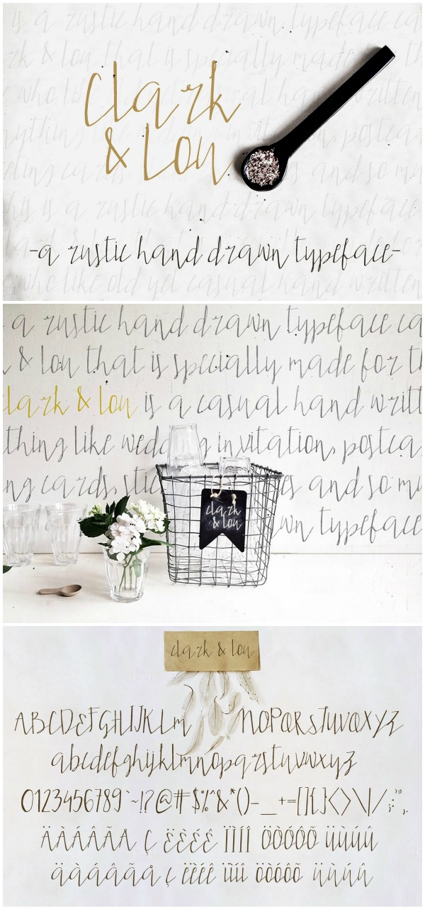 Font Favorites: Clark & Lou font. I am in love with how delicate yet strong this font is. It will be one of my go to fonts for everything!!