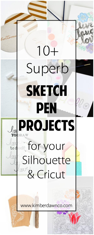 10+ Superb Sketch Pen Projects | www.kimberdawnco.com