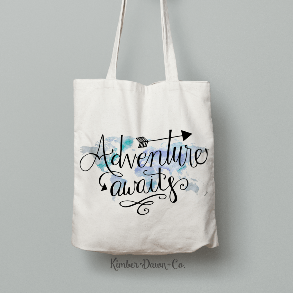 Hand Lettered Adventure Awaits Free SVG Cut File