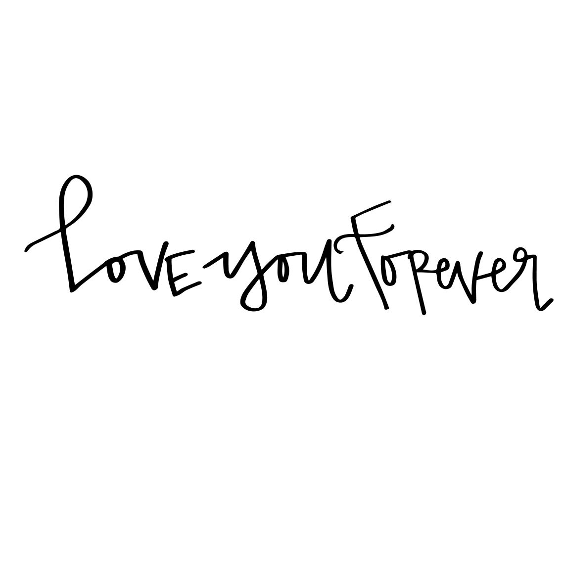 Download Hand Lettered Love You Forever Free SVG Cut File