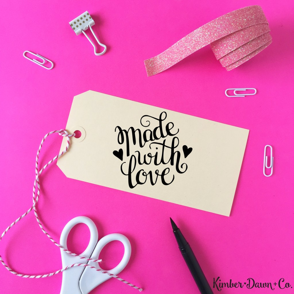 Hand Lettered Made with Love Cut File