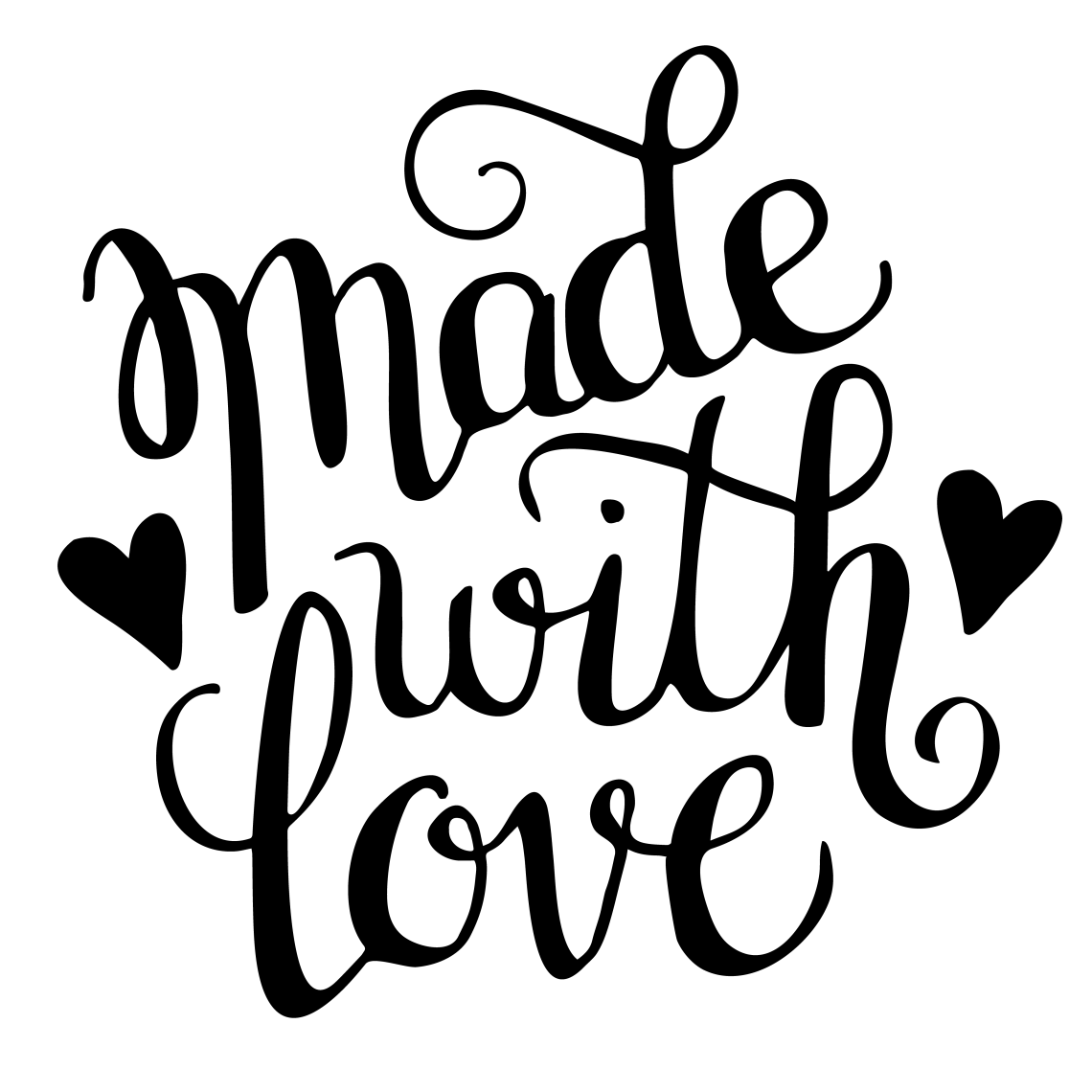Download Hand Lettered Made with Love Cut File