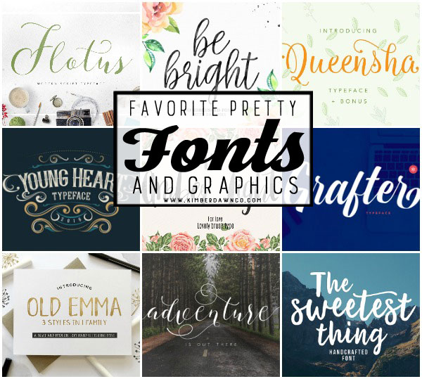 Favorite Pretty Fonts & Graphics – The July Bundle