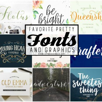 Favorite Pretty Fonts & Graphics – The July Bundle