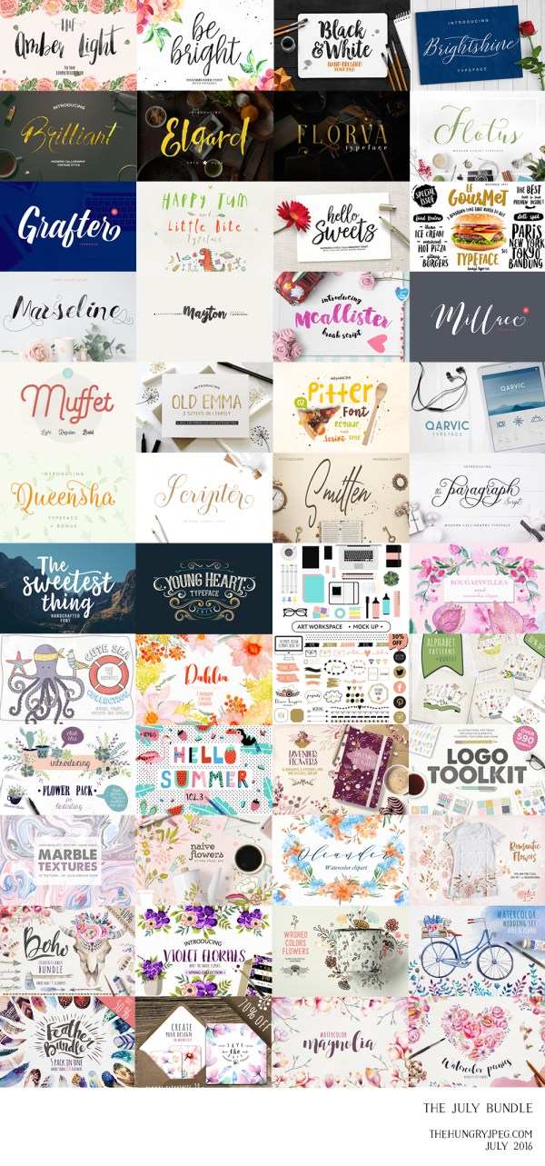 26 fonts and 22 graphics packs all for 96% off!!!