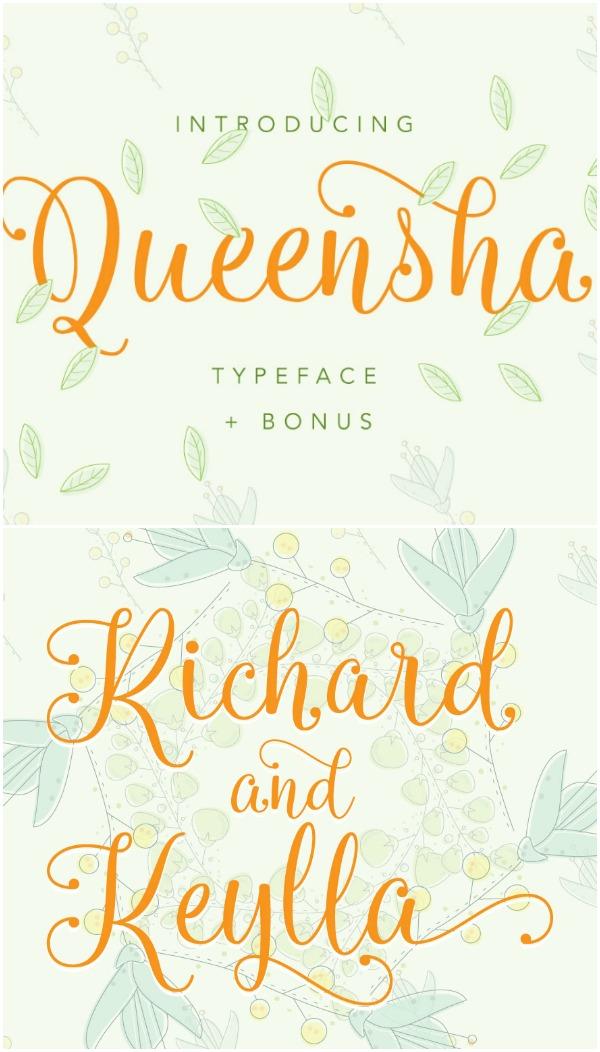 Queensha Font - Love this font!