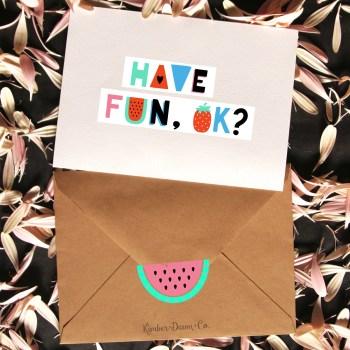Watermelon Envelope Sealers Free Cut File