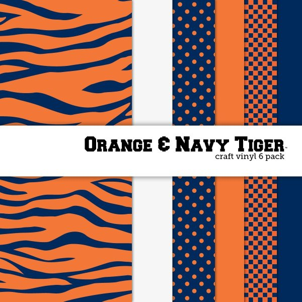 10 of the Coolest Kinds of Vinyl: College Themed -Orange and Navy Tiger | www.kimberdawnco.com
