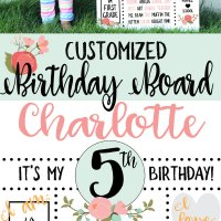 Free Birthday Board SVG Cut File