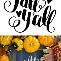 Hand Lettered It's Fall Y'all Free SVG Cut File