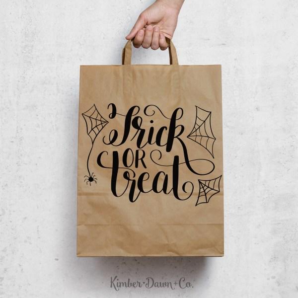 FREEBIE FRIDAY! Hand Lettered Trick or Treat Free SVG Cut File + PNG & .Studio3 | KimberDawnCo.com