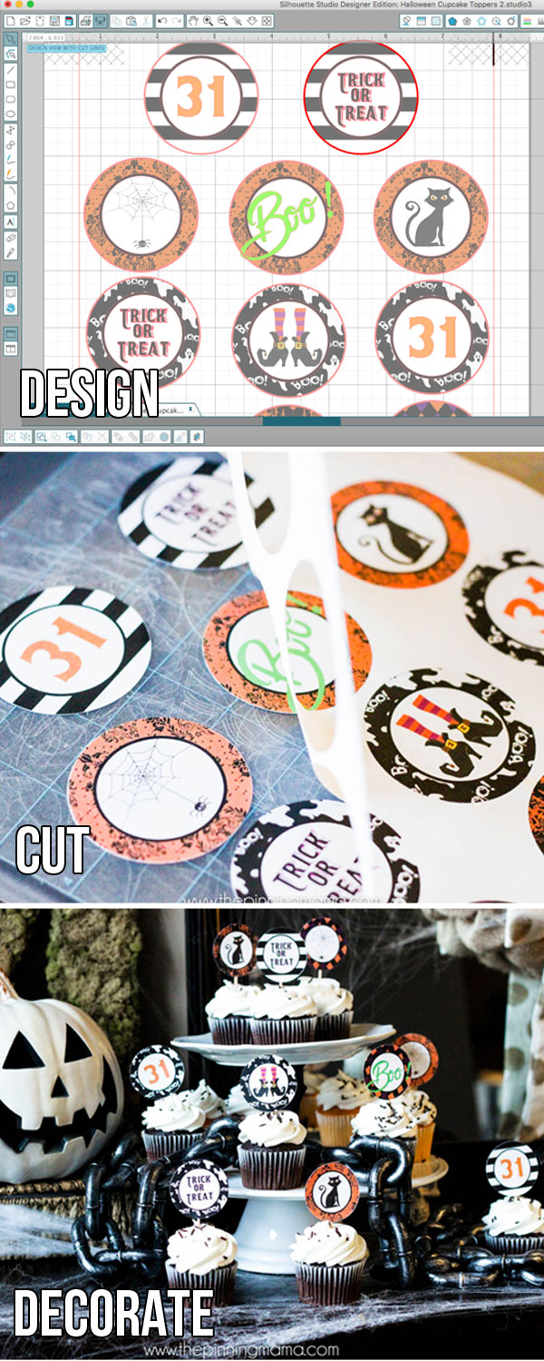 How to make custom cupcake toppers for any theme or holiday! Grab the free cupcake topper template here!