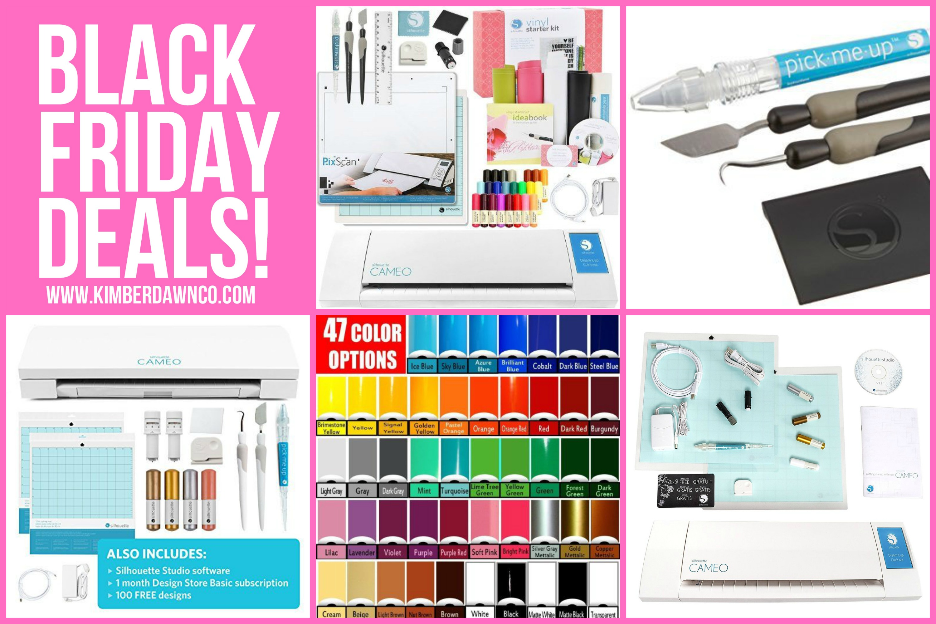 Silhouette CAMEO Black Friday Deals - Lowest prices on cutting machines - no coupon code needed. Silhouette CAMEO 3 machines and bundles on sale!