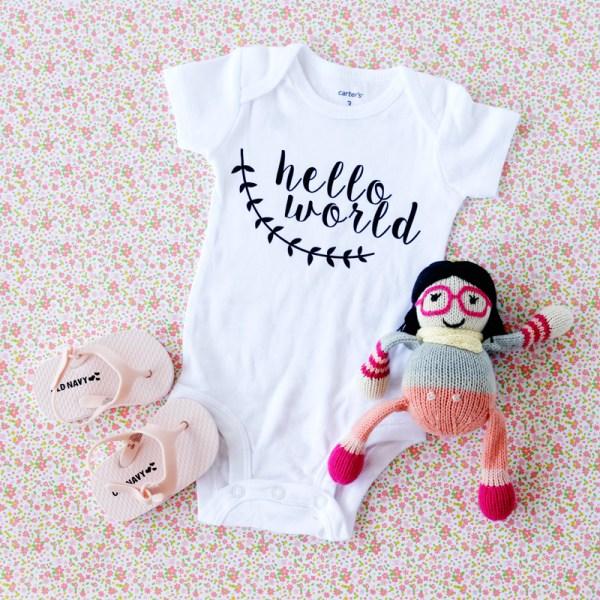 10+ Precious Handmade Baby Gifts for your Silhouette & Cricut | www.kimberdawnco.com