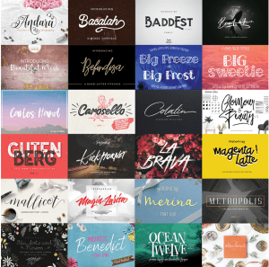 Font Bundle - Lots of fonts at a HUGE discount!