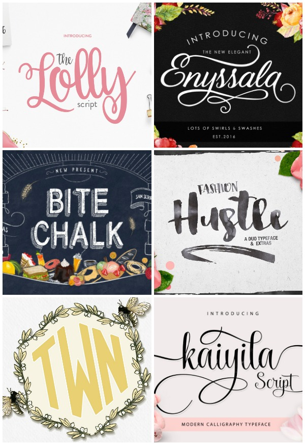 Favorite Fonts to Use with Silhouette CAMEO + GIVEAWAY