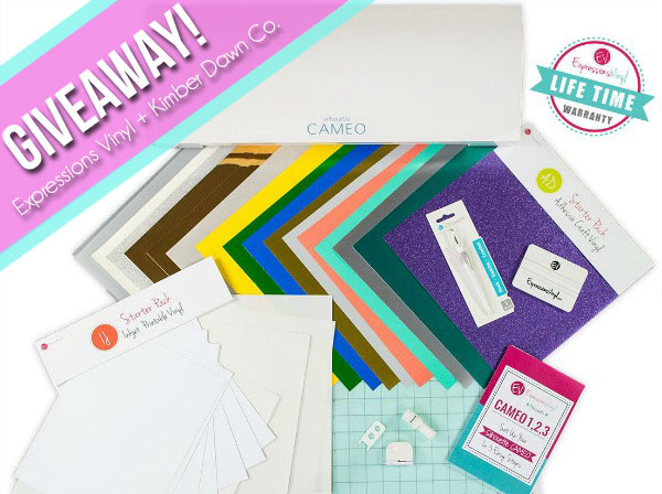 Enter for a chance to win a NEW Silhouette CAMEO 3 Bundle including a lifetime warranty!