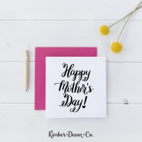 Hand Lettered Happy Mother's Day Free SVG Cut File