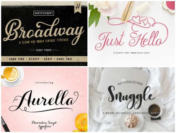 10 Script Fonts Perfect for Cutting!