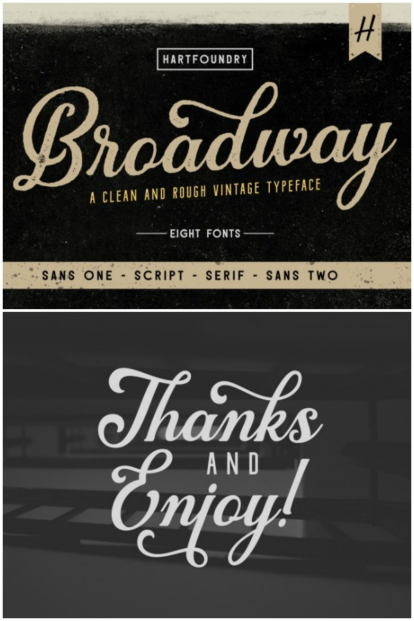 Broadway Cursive Font for Cutting Machine