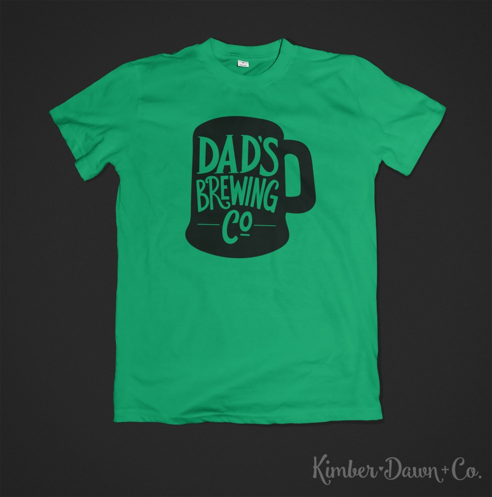 Hand-Lettered Dad's Brewing Co Free SVG Cut File