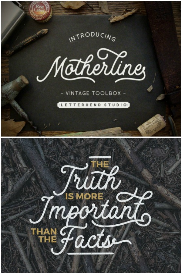 Motherline Vintage Toolbox Font