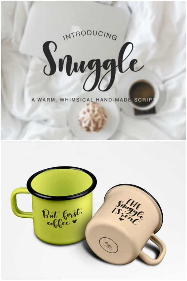 Snuggle Brush Font for Cutting