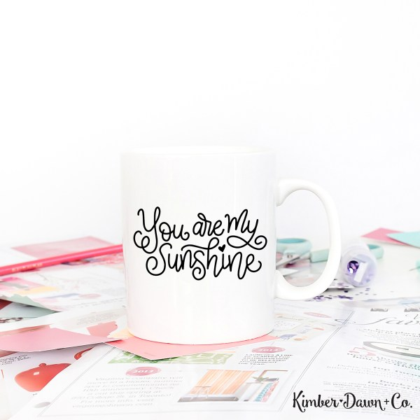 Hand Lettered You Are My Sunshine Free SVG Cut File