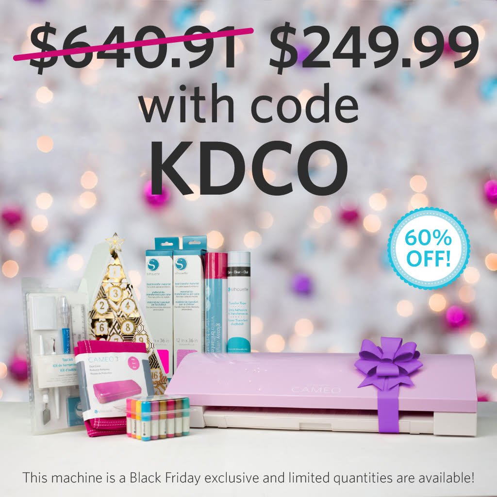 Silhouette 2017 Black Friday Sale!  Deals on Silhouette CAMEO, Vinyl and more!