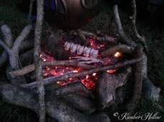 Bones and hot coals - a perfect Halloween cookout!