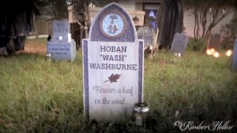 New tombstone at Kimber Hollow 2015 - RIP Firefly's Hoban Washburne