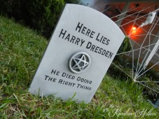 Harry Dresden's tombstone as described in The Dresden Files books.