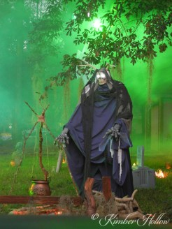 Mr Creeper Reaper spends every Halloween night brewing potions and poisons