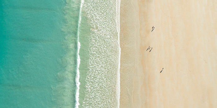 Broome's iconic Cable Beach from above