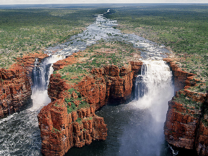 The incredible King George Falls flowing hard